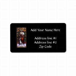 St. Joseph pray for us   stained glass window Personalized Address