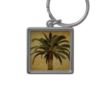 Palm Tree   Tropical Customized Template Key Chain