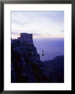 Cable Car Going up Table Mountain, Cape Town, South Africa, Africa Pre made Frame