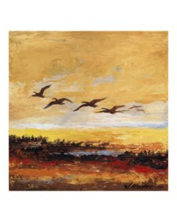 Canada Geese in Flight 3 Giclee Print by Wendy Kroeker (Erhardt)