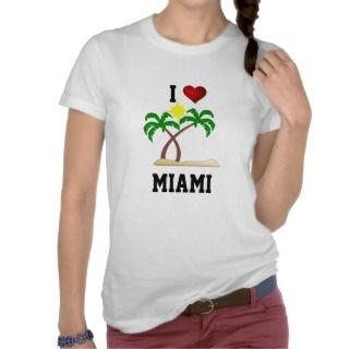 Florida I Love Miami   palm trees and sunshine T Shirts