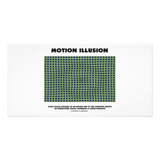Motion Illusion (Optical Illusion) Personalized Photo Card