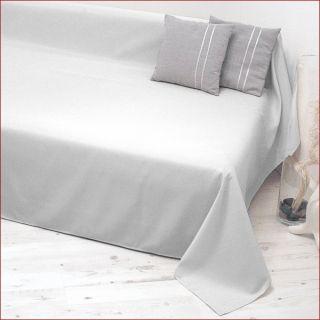 Tagesdecke Plaid Überwurf Sofaüberwurf 140x210cm weiß