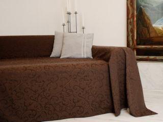 Tagesdecke Plaid Überwurf Sofaüberwurf 210x280cm braun