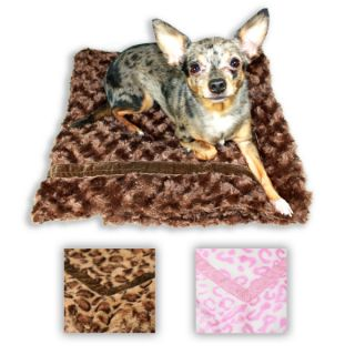 Dog Beds Hip Doggie Super Soft Mink Fur Trundle Blankets