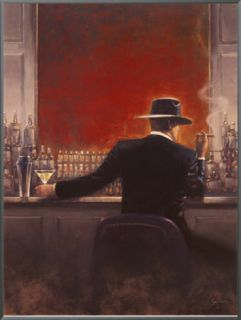 Cigar Bar Framed Canvas Print by Brent Lynch