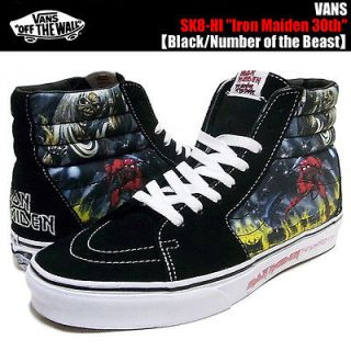 VANS LIMITED SK8 HI TOP IRON MAIDEN NUMBER OF THE BEAST SHOES SNEAKERS