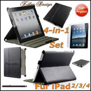 NEU Apple iPad 2 & 3 Leder Schutz Hülle +Schutzfolie&Stift