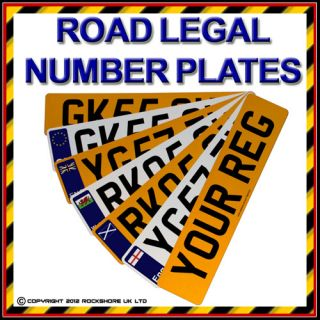 100% ROAD LEGAL CAR NUMBER PLATE   REPLACEMENT FRONT REAR REGISTRATION