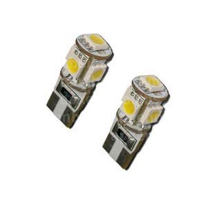 LED Light Bulbs T10   501   T10   5SMD   5050 CANBUS 5 SMD White