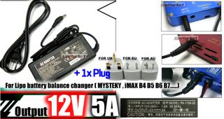 POWER 12v 5A Adapter for MYSTEKY iMAX B5 B6 RC Charger