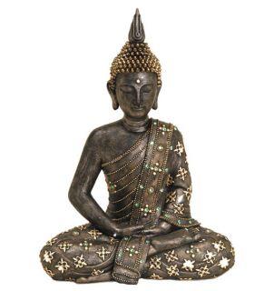 8670) 42cm Deko thailand BUDDHA Figur Statue Skulptur FENG SHUI Asien