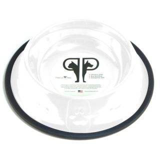 Platinum Pets Stainless Steel Dog Bowl   White