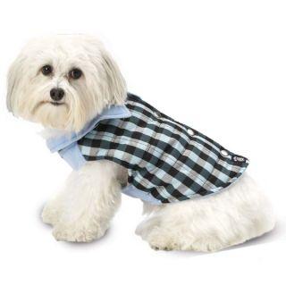 PetRageous Designs Vail Checkered Dog Vest   Blue