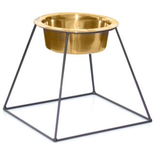 Platinum Pets Pyramid Stand with Stainless Steel Bowl   Dog   Boutique