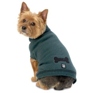 PetRageous Designs Cali's Cable Dog Sweater   Blue/Green