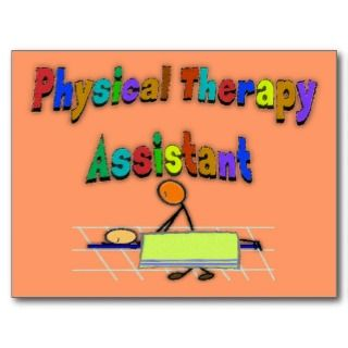 Physical Therapy Assistant  Stick Figure Design Post Card