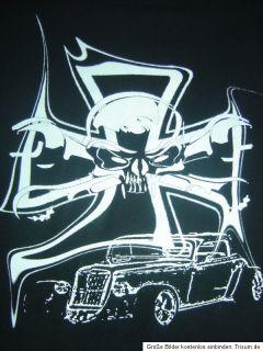 Hot Rod T Shirt schwarz Gr.4XL Chopper Rocker Motorrad Rockabilly