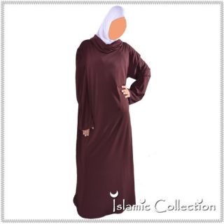Burgunda Jilbab Hijab Islam Muslim Islamische Kleidung 16 3024