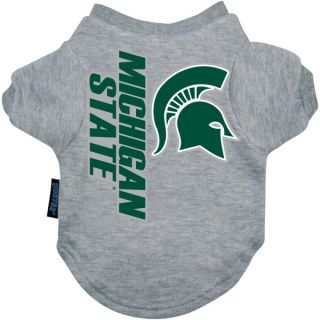 Michigan State Spartans Logo Pet T Shirt    Clothing & Accessories   Dog