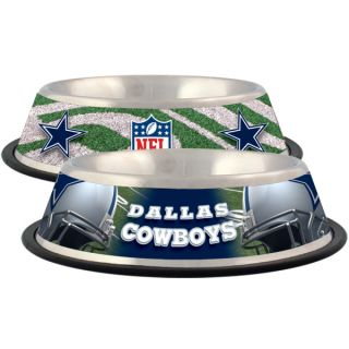 Dallas Cowboys Stainless Steel Pet Bowl   Team Shop   Dog