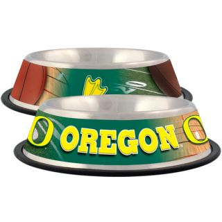 Oregon Ducks Stainless Steel Pet Bowl   Team Shop   Dog