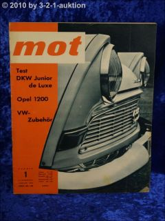 MOT 1/62 DKW Junior de Luxe Opel 1200 Ford 17 M Radio