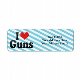 Love Guns Return Address Label