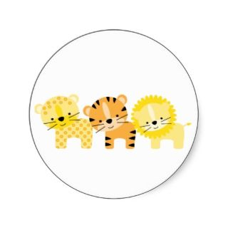 Jungle Cats Baby Boy Birth Announcements