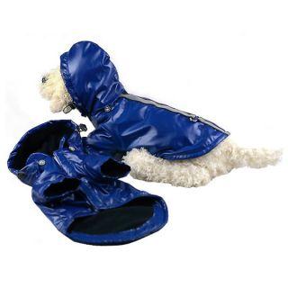 Pet Life Reflecta Sport Dog Rainbreaker   Blue