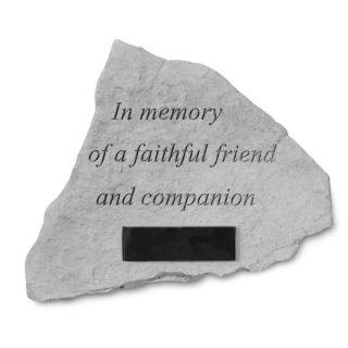 In Memory of A Faithful Friend Personalized Pet Memorial Stone   Pet Memorial   Cat