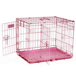 Precision Pet ProValu 2 Door Wire Dog Crate   Pink