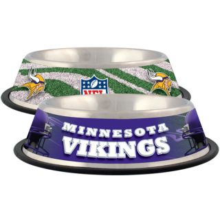 Minnesota Vikings Stainless Steel Pet Bowl   Team Shop   Dog