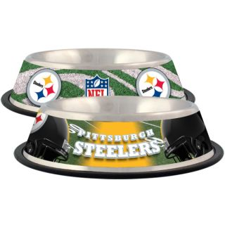 Pittsburgh Steelers Stainless Steel Pet Bowl   Team Shop   Dog