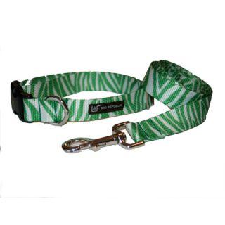 Lola & Foxy Nylon Dog Collars   Zebra   Green