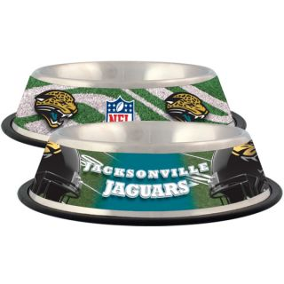 Jacksonville Jaguars Stainless Steel Pet Bowl   Team Shop   Dog