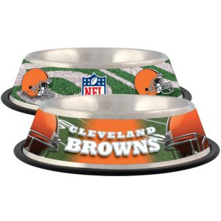 Cleveland Browns Stainless Steel Pet Bowl   Team Shop   Dog