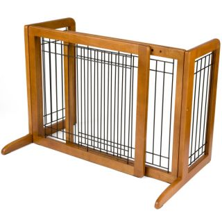 Richell USA Wood Freestanding Pet Gate   Dog   Boutique