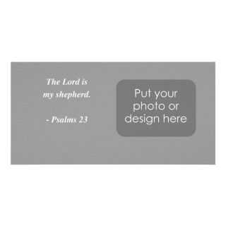 PSALMS 23 Bible Verse Photo Card