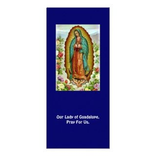 de Guadalupe Spanish Prayer Card Rack Card Template