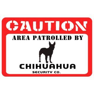 Bungalow Printed Caution Chihuahua Pet Mat   Dog   Boutique
