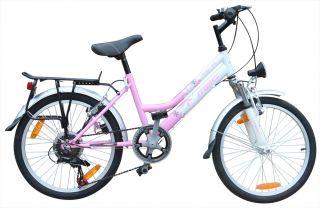 24 Zoll SHIMANO StVZO Licht Mädchen Fahrrad Lady 24 PINK