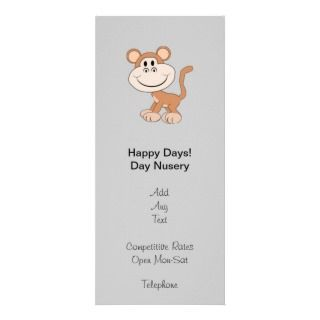 Merry Chimpmas! Christmas gifts Customized Rack Card
