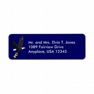 Support Our Troops Return Address Label