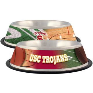 USC Trojans Stainless Steel Pet Bowl   Team Shop   Dog