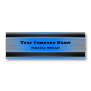 Blue Metal Business Card Template Generic by TastefulDesigns