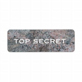 Top Secret Pink and Gray Rock Custom Return Address Label