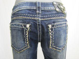Miss Me JS5408T8 Straight Damen Jeans blau Gr.W27 NEU