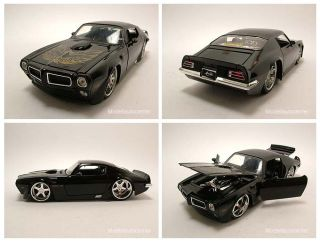 Pontiac Trans Am 1972 schwarz, Tuning, Modellauto 124 / Jada Toys