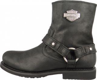Harley Davidson Biker Boots Stiefelette Scout D95262 Black Schwarz Gr